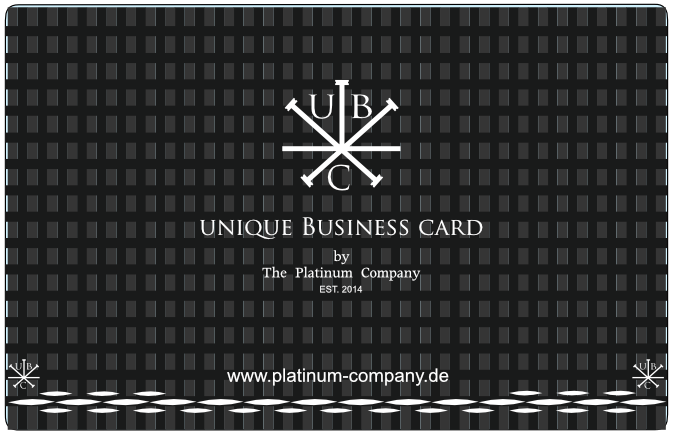 Platinum Company Carbon Visitenkarte