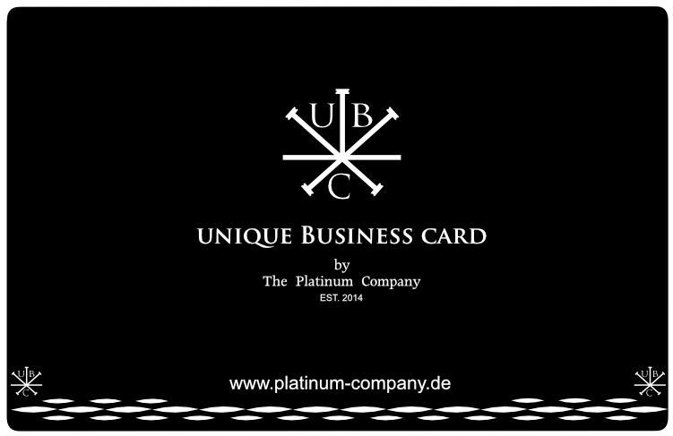 Platinum Company Metall Visitenkarte Schwarz